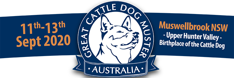 Logo Banner - The Great Cattle Dog Muster Muswellbrook Hunter Valley Event